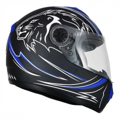 Integral Lion Negro Mate Azul